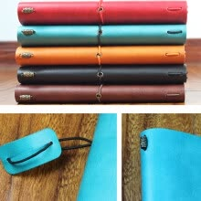 paper-products-Classic kraft Paper Strap Notebook Portable Creative Handmade Diary Book Gift on JD