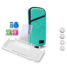 webcams-7 In 1 Kit Portable Carry Bag Case Tempered Glass Screen Protector TPU Case for Switch Lite on JD