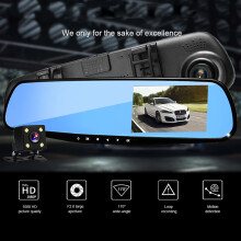 4.3-inch Car HD DVR Night Vision Reversing Image Parking Monitoring Camera DVR Recorder