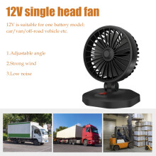 Car Mini Fan 360 Degrees Adjustable Durable Cooler Fan with Dual USB Charging Interface Auto Air Con