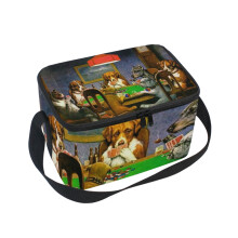 ALAZA Lunch Box Insulated Lunch Bag Large Cooler Smoking Artistic-Painting Dogs Tote Bag