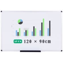 whiteboards-AUCS 45 * 30cm magnetic whiteboard writing board office teachers with hanging white board QUR3045L on JD