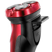 FLYCO FS338  Washable Electric Shaver Razor 3D Floating Heads 1 Hour Quick Charge Red