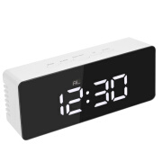(Limited time purchase)Digital LED Mirror Clock 12H/24H Alarm and Snooze Function Temperature regulator