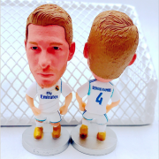 5 PC Soccerwe Football Star Doll Zidane Raul C. Philippine Moss Bell Benzema Football Puppet Model Mini Estatua