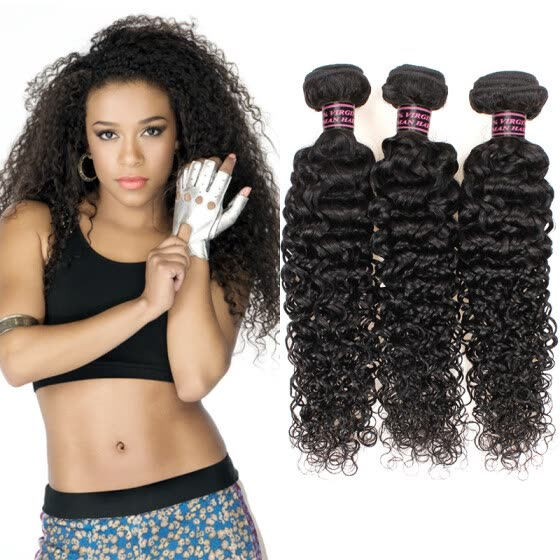 Good Quality Unprocessed Brazilian Kinky Curly Virgin Human Hair 3Bundles Weave Top Selling Virgin Brazilian Kinky Curly Hair