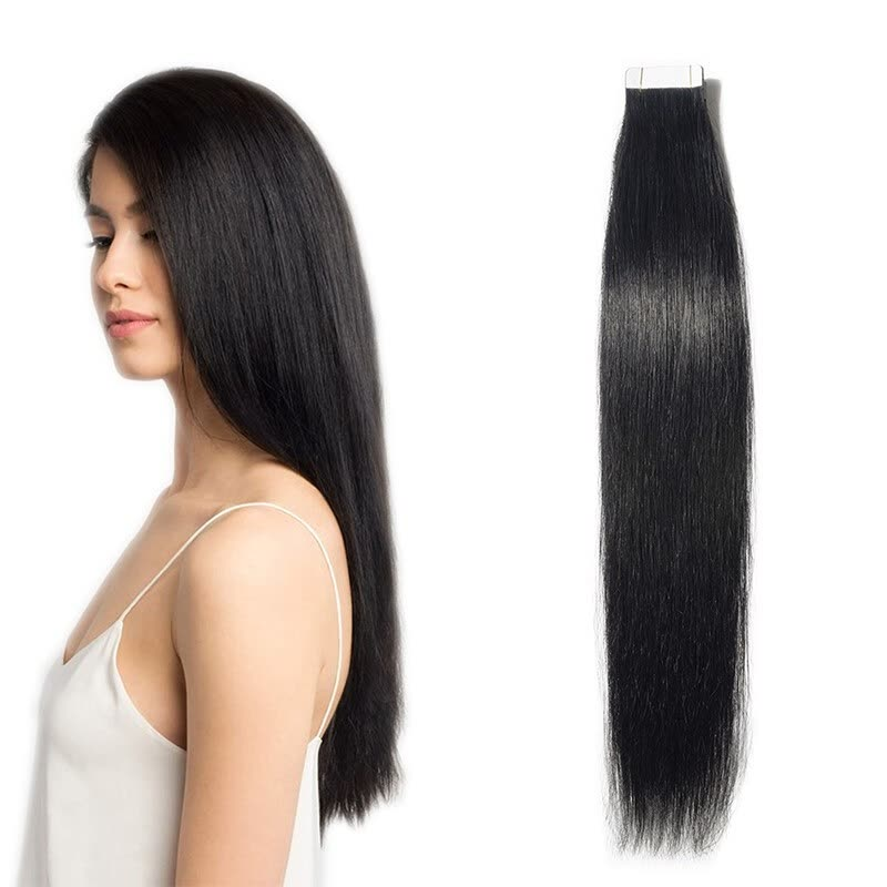 12 24 Inch Women Human Tape In Skin Weft Real Hair Extensions Tape