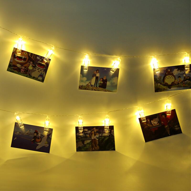 Led Lights String Lights Creative Photo Folder Lights String ...