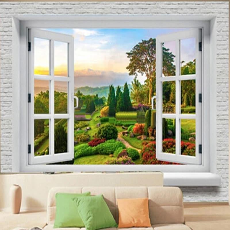 Custom 3D Wall Murals Wallpaper Landscape Photo Wall Paper Natural ...