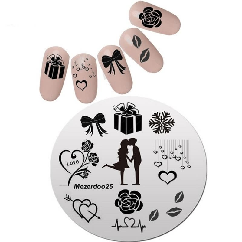 Nail Art Image Creative Design Valentine Girlfriend Stamping Nail ...