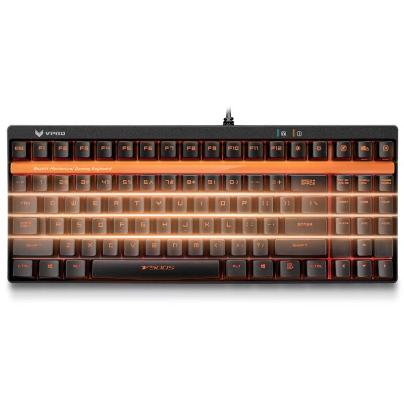 shop rapo v500s backlight game mechanical keyboard backlit keyboard