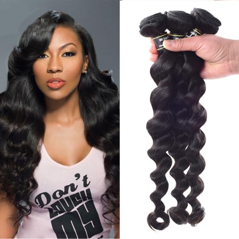Amazing Star Brazilian Virgin Hai Loose Wave Bundles 100 Human Hair
