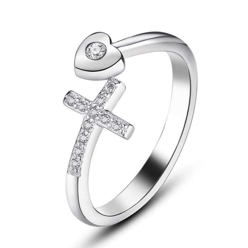 Shop Maltia Jewelry Womens 925 Sterling Silver Plated Cubic Cross