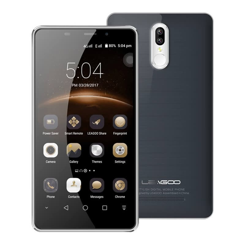 LEAGOO M8 PRO 5.7 Inch HD 2GB RAM 16GB ROM MT6737 Quad Core 1.3GHz Android 6.0 Smartphone Two Rear Cameras TOUCH ID