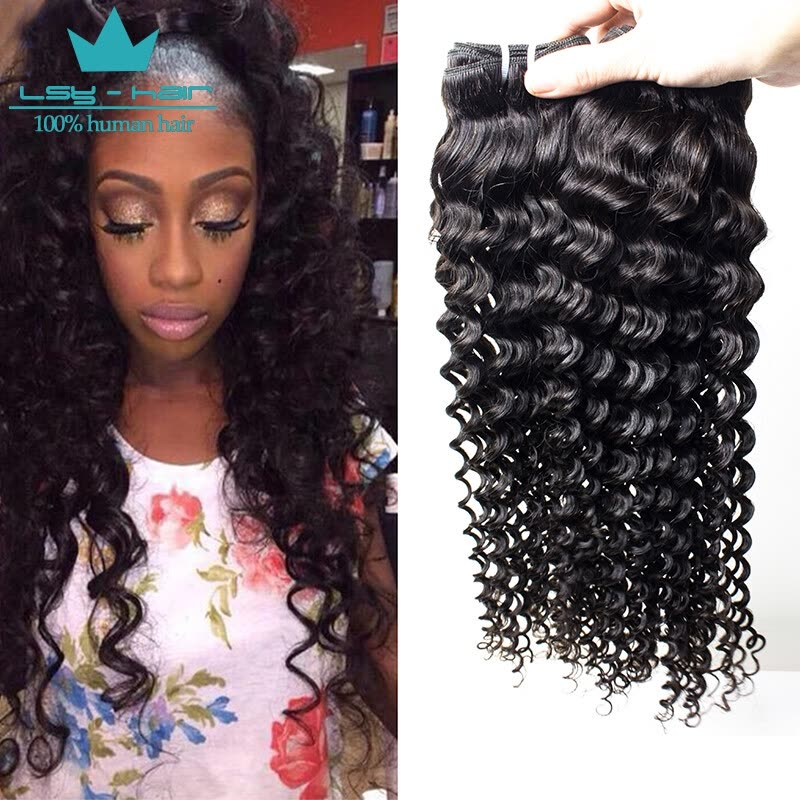 Shop Indian Deep Wave Virgin Hair Extension Indian Human Hair Weave