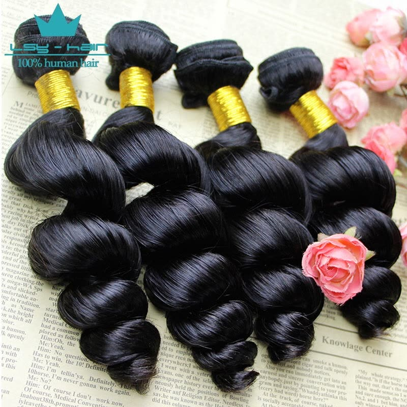 4pcs Lot Unprocessed Brazilian Virgin Hair Extension Loose Wave