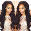 N.L.W. Brazilian virgin human hair Lace front wigs Natural Body wave Glueless wigs for black women