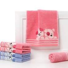 -Gold double twist twisted satin cartoon Miffy rabbit cotton woolen face towel MF1064W red and blue two loaded on JD