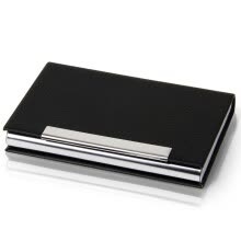 875065887-Effective (deli) 7625 leather male and female multi-functional business portable business card holder / business card card black on JD