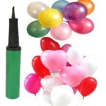 8750202-[Jingdong supermarket] green reed balloon suit heart-shaped 150 loaded red powder purple gift cylinder on JD
