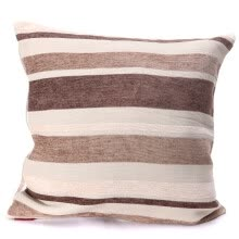 87503-Cushion cover (without core) 2 classic striped brown gray 43cm x 43cm on JD