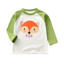 -Autumn Baby T-shirts 1Y-6Y Boy Girl Long Sleeve T-Shirts Kids Cartoon Animal Print Tops Shirts Casual Blouse 6 Colors Soft Kids on JD