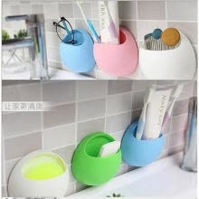 -Home Bathroom Toothbrush Holder Wall Mount Suction Cup Toothpaste Storage Rack on JD