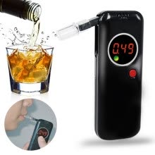 blood-glucose-monitors-Digital Alcohol Tester Breathalyzer Professional Alcohol Content Detector For Driver on JD