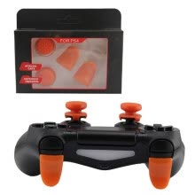 game-extensions-L2 R2 Trigger Extended Button Analog Extender Thumbstick Grips Enhanced Thumb Stick Cap For PS4 Controller on JD