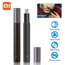 -Xiaomi Mijia Mini Electric Nose Hair Trimmer Safe Nose Hair Shaving Machine Waterproof Face Care Facial Cleaning Makeup Tools on JD
