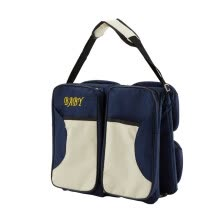 -Multi-function Foldable Crib Bed Folding Bag Large Capacity Portable Mummy Bags Newborn Carrier Shoulder Handbag Travel(Navy Blue) on JD