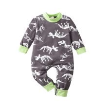 -Autumn Hot Sale Newborn Infant Baby Boy Cotton Romper Long Sleeve Dinosaur Print Clothes Jumpsuit Costumes Baby Clothes on JD