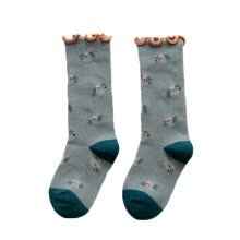 -1-12T Baby Girl Cute Socks Cartoon Print Cotton Long Socks Infant Children Soft Crib Leg Warmer on JD