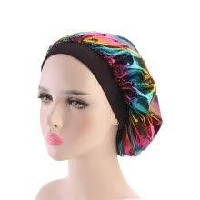 -Women Hair Care Night Sleep Hats Satin Flower Bonnet Cap Beanies Polyester Caps Head Wrap Ladies Skullies Fashion New Hot S on JD