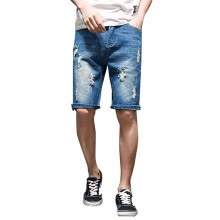-New Men shorts Jeans Short Pants Destroyed Skinny jeans Ripped Pant Frayed Denim on JD