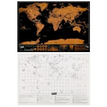 -World Map Poster with States and Country on JD