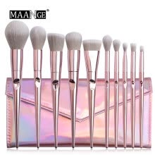 -10 Pcs Pink Makeup Brushes Blush And Eye Shadow Brushe And Makeup Bag Set on JD