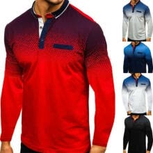 -Men Slim Fit Polo Shirts Long Sleeve Casual Golf Tops Tee T-Shirt Autumn Shirts on JD