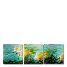 -Tooarts Aluminum Tropical Fish Wall Art Modern Painting 5-Panels Wall Sculpture Home Decoration Multicolor 71'x24' on JD