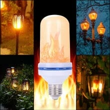 -1 E27 LED Flame Effect Light Bulb Simulated Nature Fire 6W Home Party Decor Lamp on JD