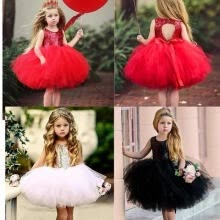-Kids Baby Flower Girl Sequins Tutu Party Dress Backless Gown Bridesmaid Dresses Pageant Wedding Clothing on JD