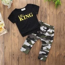 -fashion The Hotsale and New Fashion Kids Baby Boy Clothes T Shirt Top+Camouflage Pants Outfits Set on JD