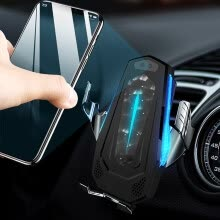 -QI Wireless Charging Car Charger Automatic Induction Car Air Vent Phone Holder on JD