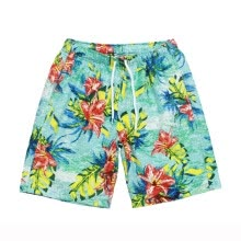 -Men's Summer Casual Print Drawstring Beach Shorts Elastic Pants Trousers on JD