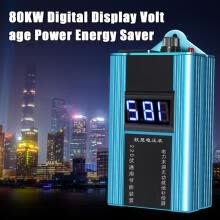 -1/2Pcs 110-230V 80KW 10-35%LED Power Energy Saver Saving Box Electricity Bill Ki on JD