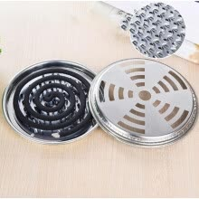 -Mosquito Coil Holder Stainless Steel Mosquito Coil Holder With Support Nails And Hollow Cover 2 PCS on JD