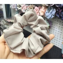 -1111Fourone Women Elastic Chiffon Hair Bands Scrunchie Hair Tie Ring Rope Ponytail Donut Grip Loop Holder Stretchy Hairband on JD