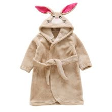 -Kids Toddler Hooded Robe Cartoon Bathrobe Baby Robe Pajamas Boys Girls Flannel Sleepwear Autumn Winter1- 7Y on JD