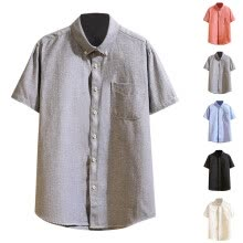 -Men Summer Pocket Buttons Casual Patchwork T-Shirt  Short Sleeve Shirt on JD