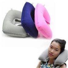 -Foldable U-shaped Neck Support Pillow Inflatable Cushion Travel Air Plane Sleep Hot Sale on JD